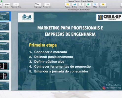Palestra Online Gratuita: Marketing para Profissionais e Empresas da Engenharia